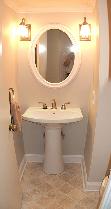 powder pedestal sink