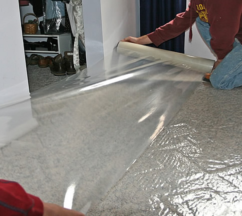 DIY Bathroom Remodeling Carpet Protection