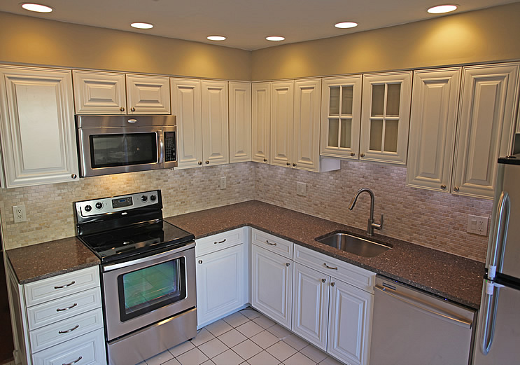 Kitchen tile backsplash remodeling fairfax burke manassas for Cheap kitchen cupboards
