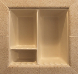 Built in recessed ceramic niche
