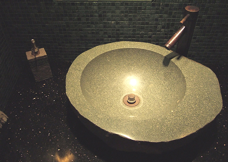 granite vanity sink picture