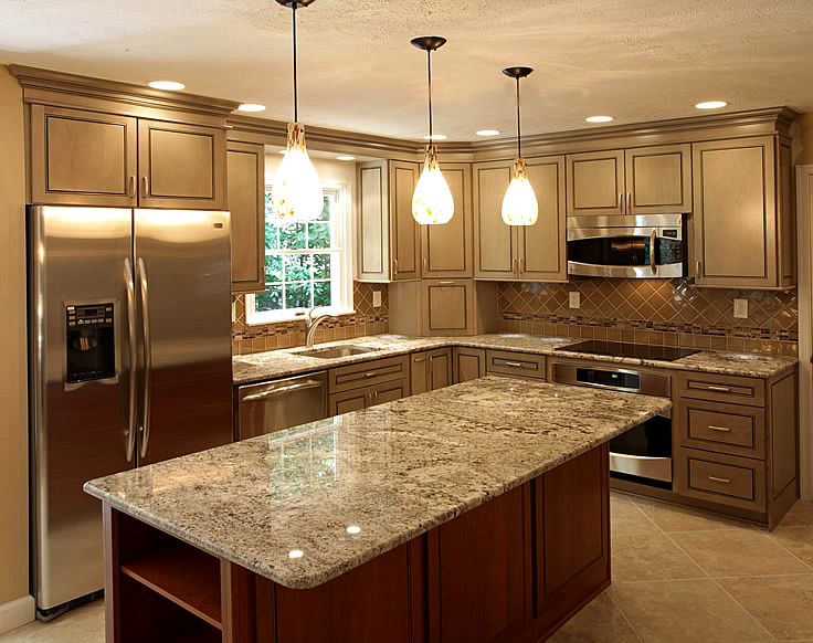 Kitchen tile backsplash remodeling fairfax burke manassas for Photos of remodeled kitchens