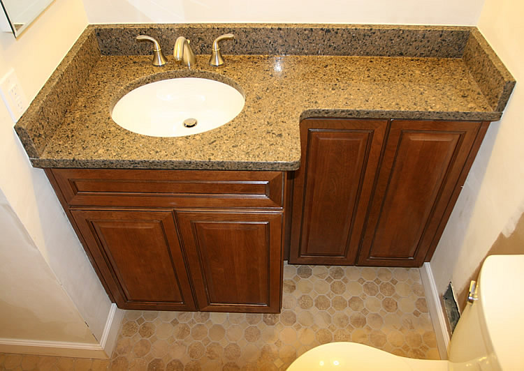 replace bathroom vanity