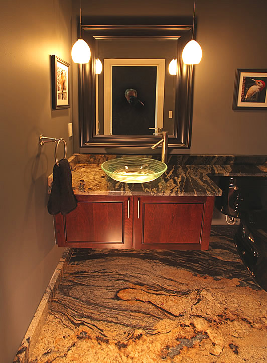 Slab Granite bathroom one piece floor