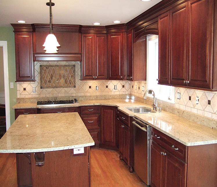 Kitchen remodel design idea. Kitchen tile backsplash design