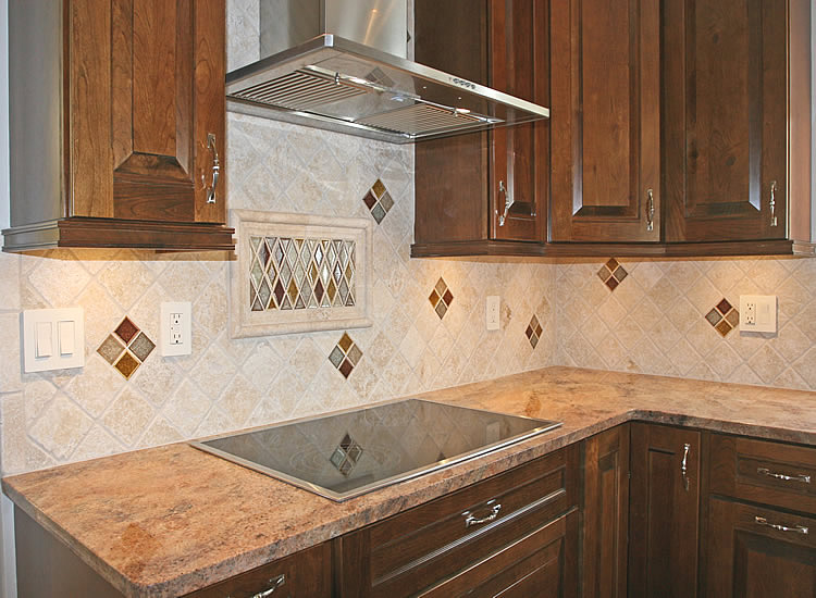 Kitchen backsplash tile ideas home interior design for Designs of tiles for kitchen