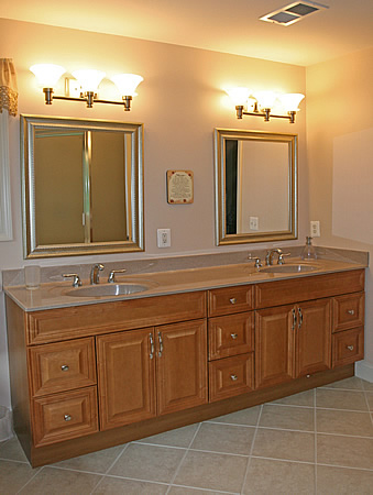 Master Bathroom Manassas Shower Vanity