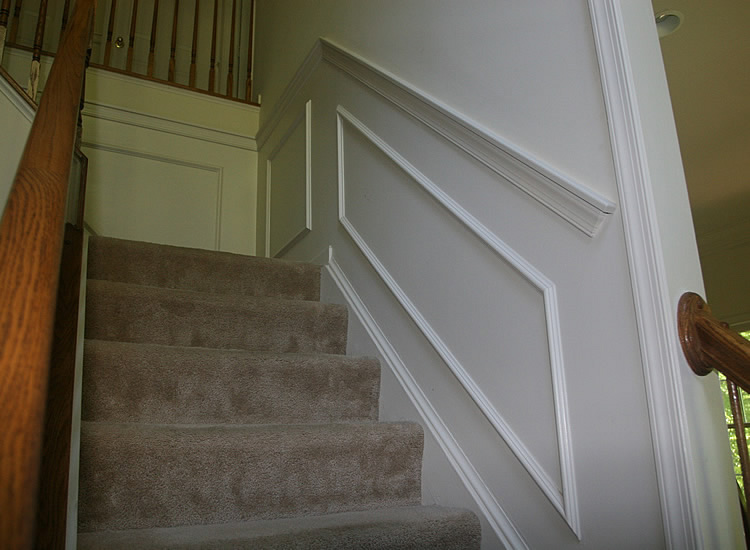 Basement Stair Trim: DIY Finished Basement Remodeling Fairfax Manassas Pictures