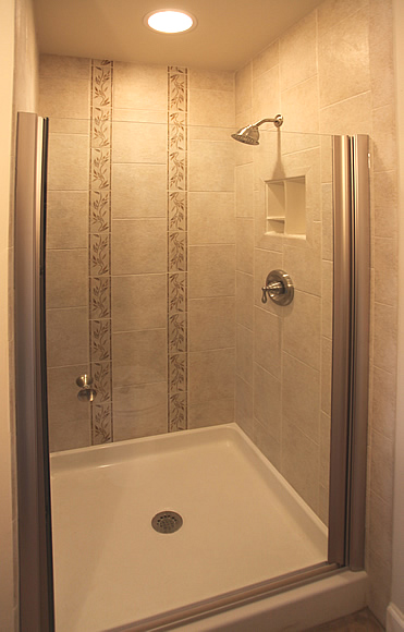 small bathroom shower only