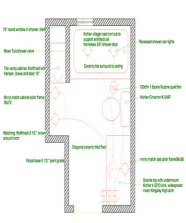 Diagonal Floor Border Full Small Master Bathroom Large Layout Plan