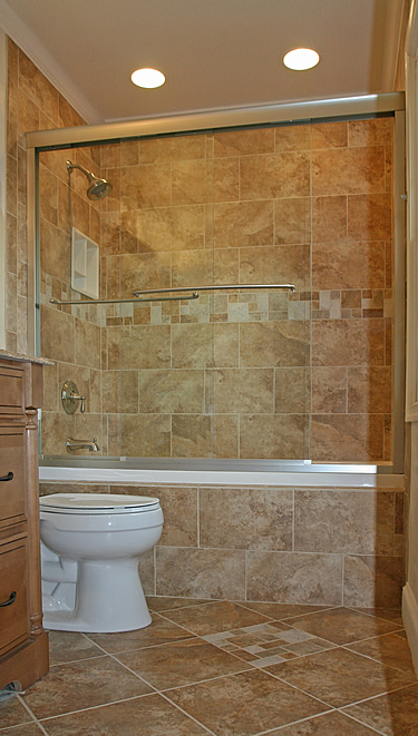 Small bathroom shower ideas native home garden design for Tiny bathroom tile ideas