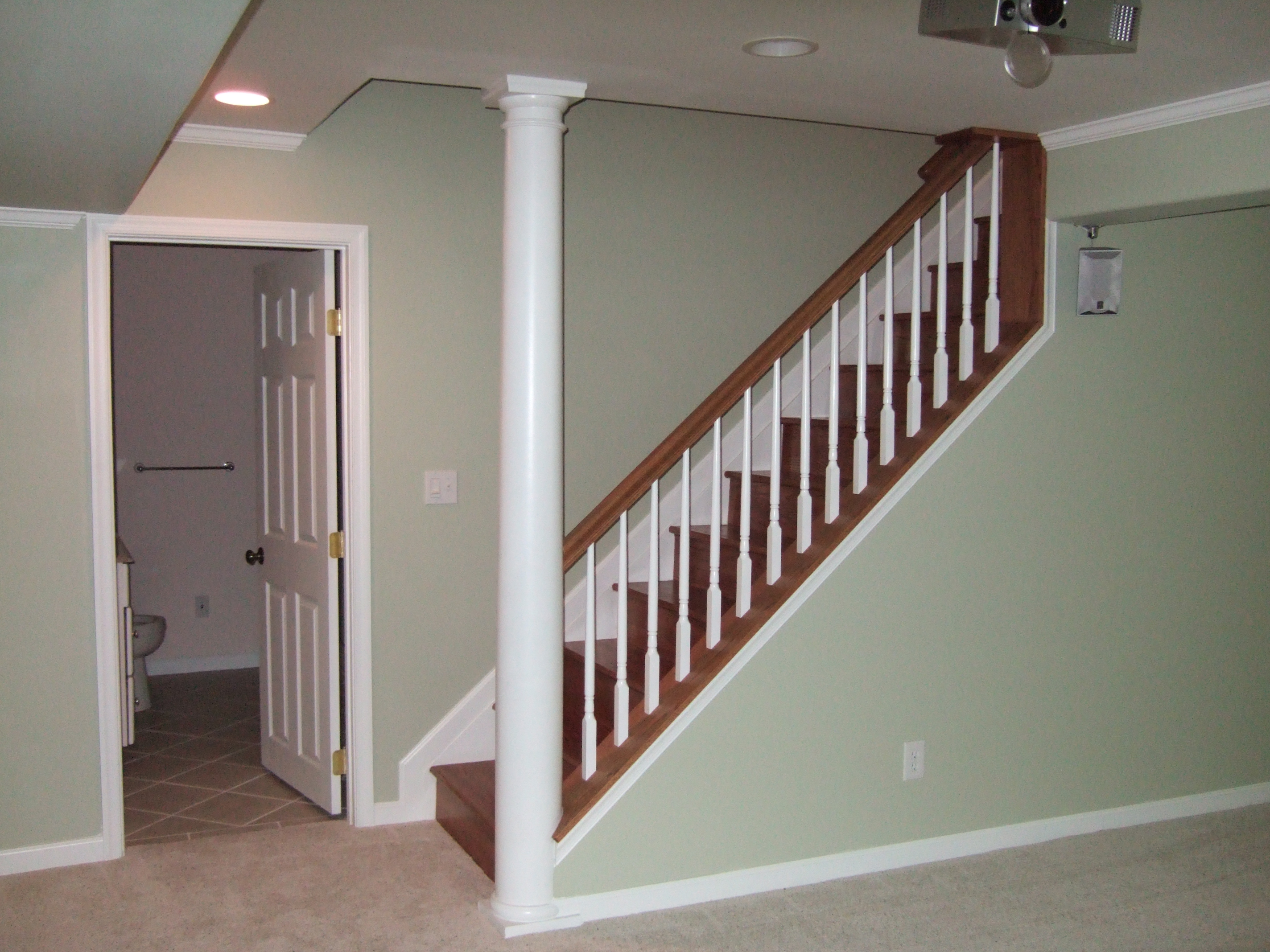 Column Molding Ideas Finished Basement Remodeling Fairfax Manassas Pictures Design Tile