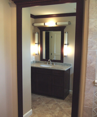 Vanity light height in bathrooms for Height of bathroom mirror