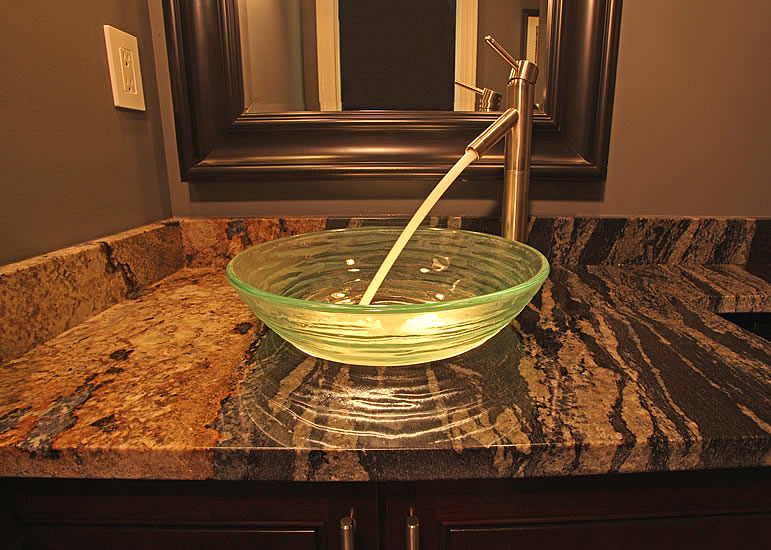 Bathroom remodeling kitchen fairfax manassas pictures for Bathroom ideas vessel sink