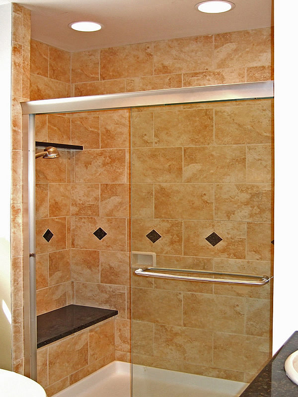 Small bathroom shower ideas native home garden design for Small tiled showers