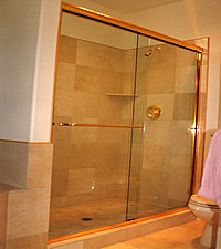 marble shower picture
