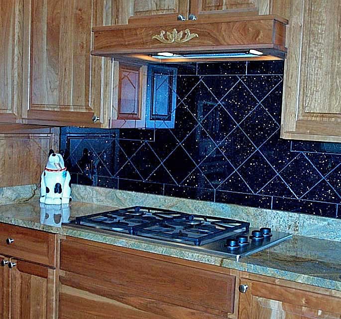 black galaxy  backsplash
