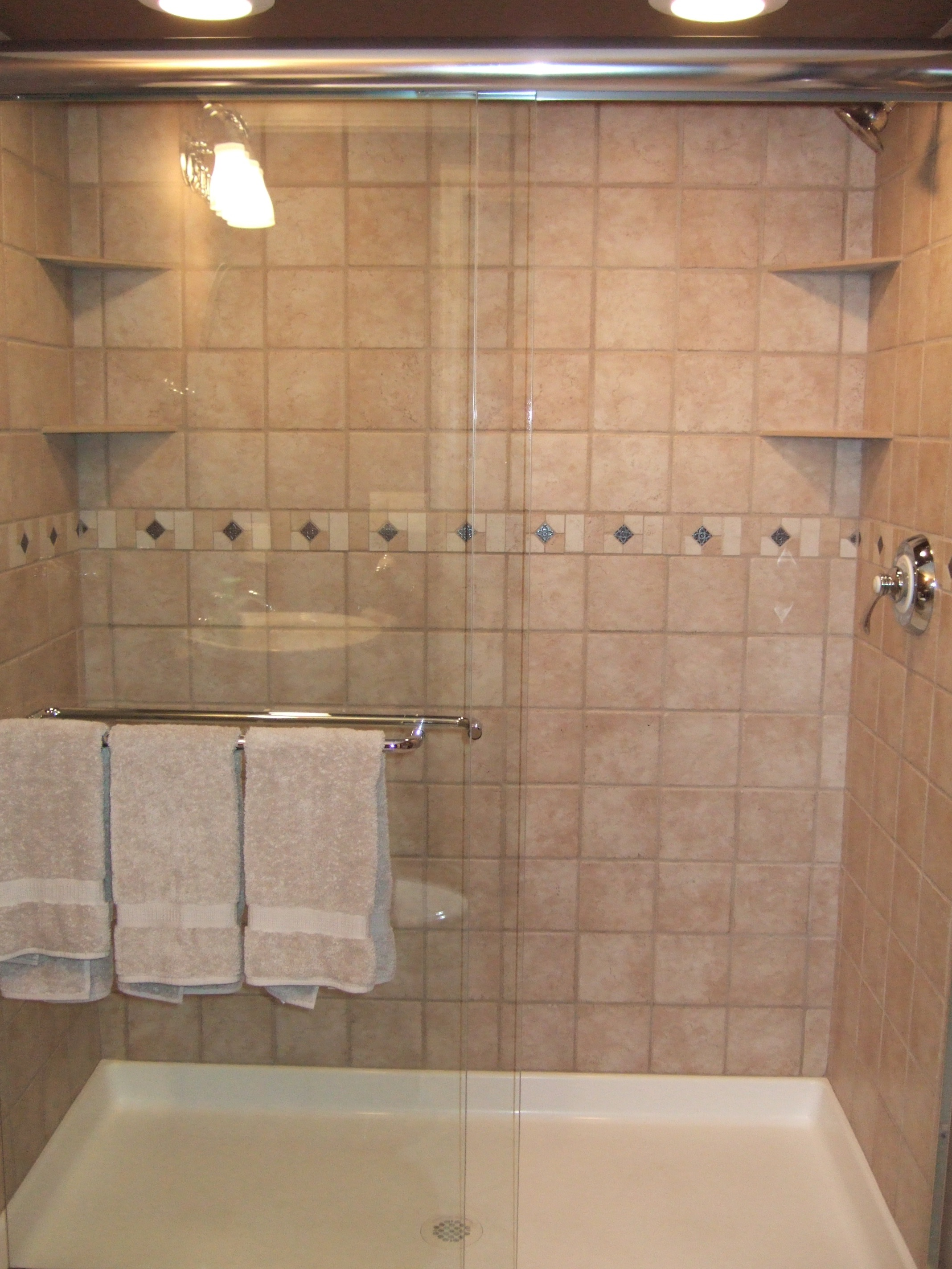 Tiling A Concrete Block Shower Stall Bathroom