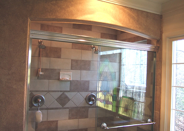 Superbe Shower Shelves. Bathroom Remodeling ...