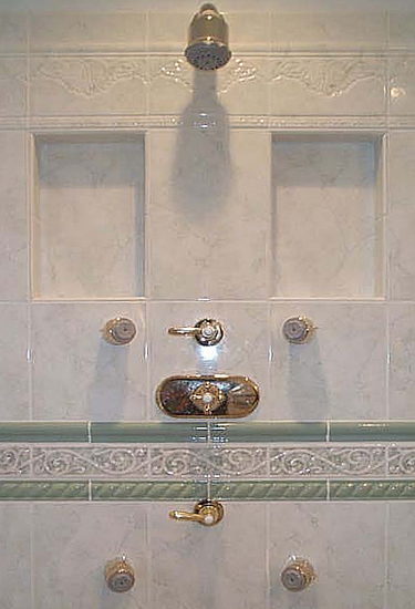 Diy Bathroom Shampoo Soap Shelf Dish Shower Niche Recessed