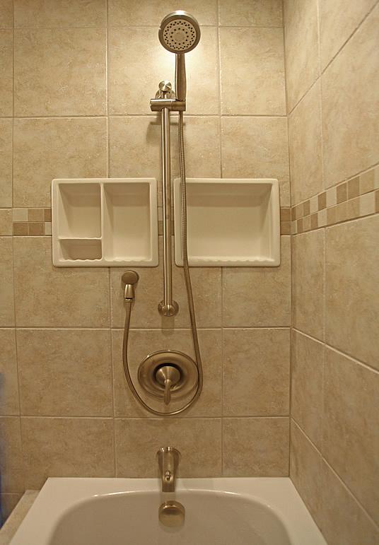 Bathroom Shampoo Soap Shelf Dish Shower Niche Recessed