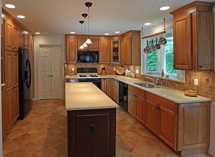 Kitchen tile backsplash remodeling fairfax burke manassas for Kitchen remodel designs pictures