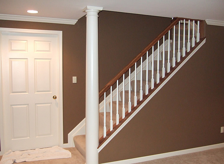 Basement Stairs Design: DIY Finished Basement Remodeling Fairfax Manassas Pictures