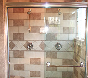 frameless aker shower door