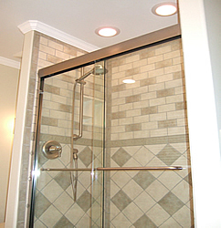 frameless shower door 4ft
