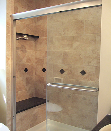 master bathroom shower ful
