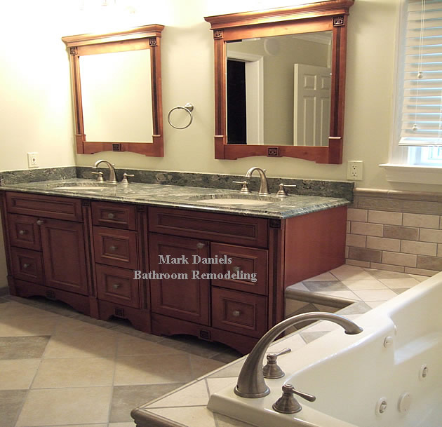 waterfall granite vanity top