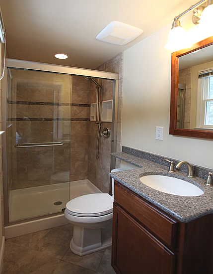 Small bathroom remodeling fairfax burke manassas remodel for Before and after small bathroom makeovers
