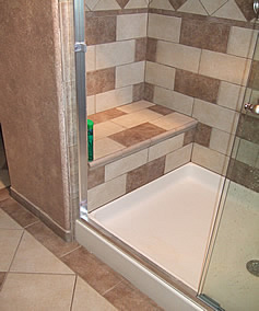 Height window in your shower area or maybe skylight over the shower