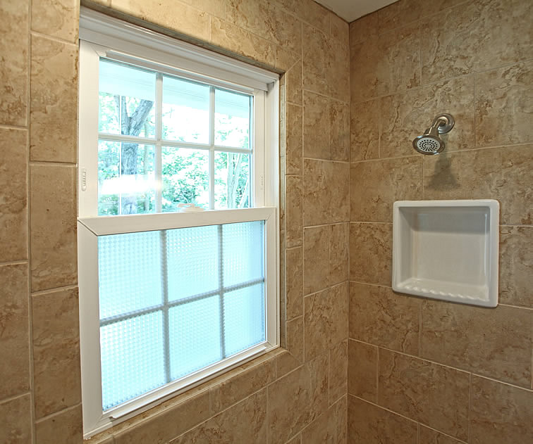 Hate Having Windows In The Shower, But This Is A Good Cover Up And Makes  The Outside Look Just Like A Window While Providing Privacy. Pelham Shingu2026