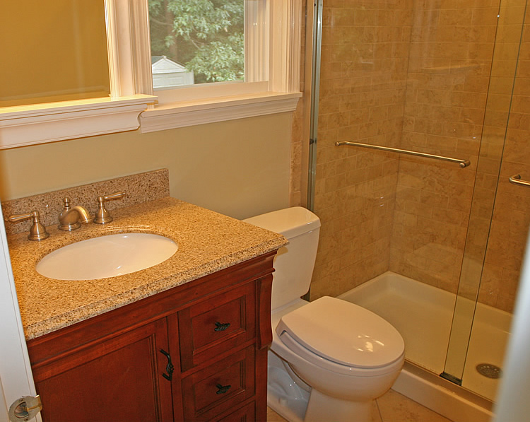 Fairfax Small Bathroom Shower Only Remodeling. Small Granite Bath