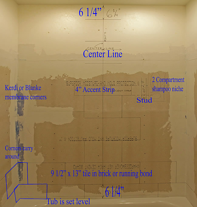diy bathroom tile layout of video install below