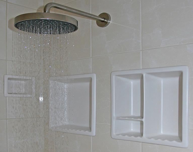 Ceramic One Piece Niche Shampoo Soap Shelf