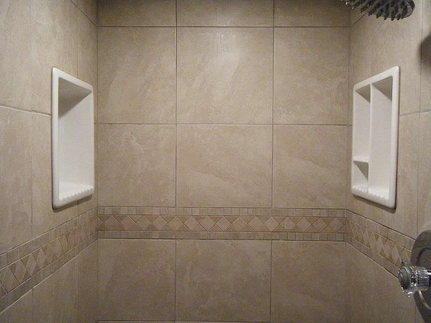 diy bathroom tile ideas bathroom shampoo soap shelf dish shower niche recessed 18147
