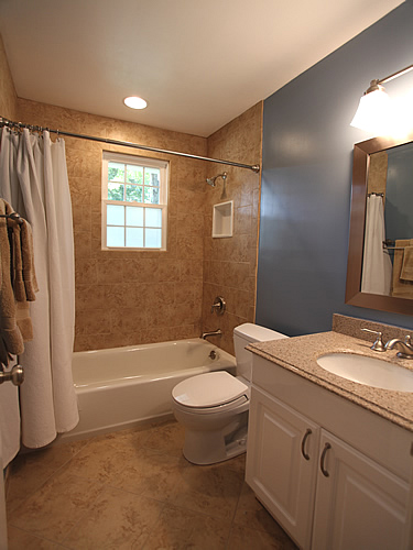 Bathroom remodeling design diy information pictures photos - Small bathroom remodel with tub ...