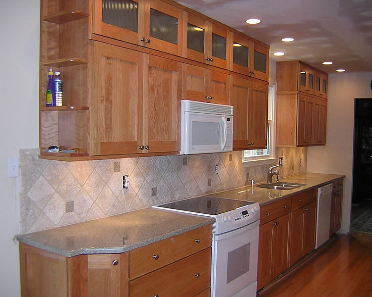 Kitchen Ideas With Cherry Cabinets Marble Counter