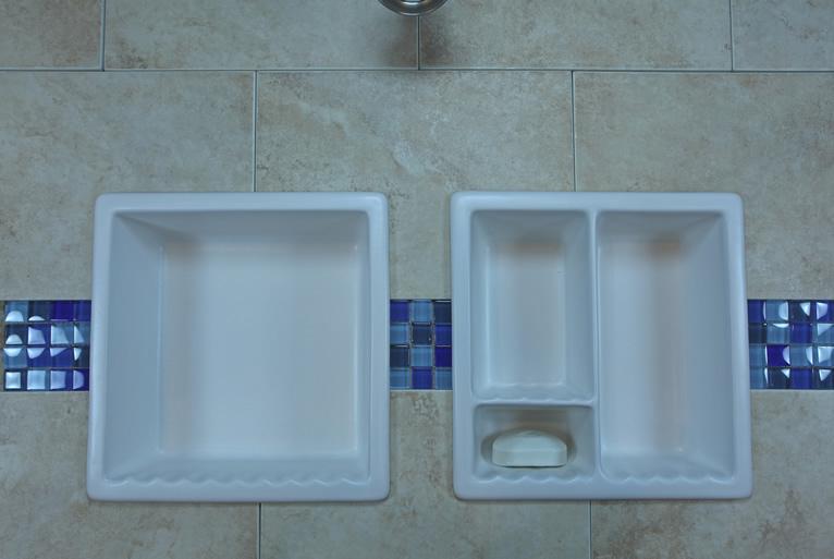 Diy Bathroom Shampoo Soap Shelf Dish Shower Niche Recessed